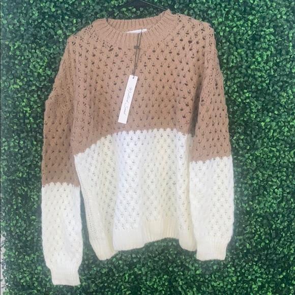 Mustard Seed Sweaters - Two-tone sweater